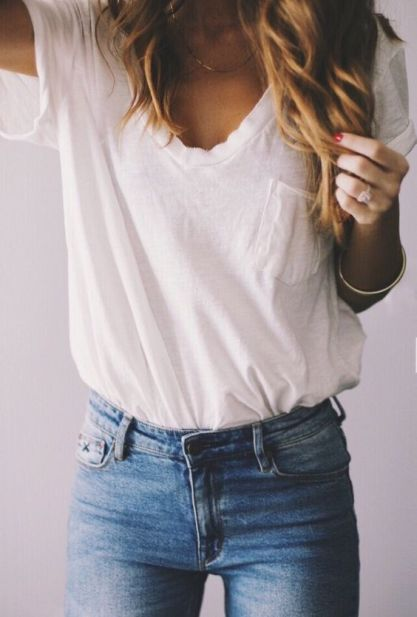 25 Ways to Style a Basic white Shirt