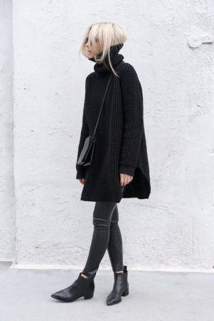 4 ways to renew your total black look