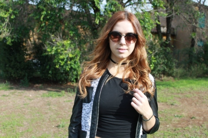 Outfit of the day: a total black look featuring Bijou Brigitte