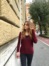 Burgundy sweater by IvyRevel
